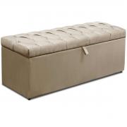 Calçadeira com Baú Itália Animale Marfim 90 cm