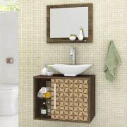 Conjunto para Banheiro Baden Madeira Rústica 3D Bechara