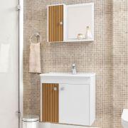 Conjunto para Banheiro Munique Branco Ripado Bechara