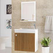 Conjunto para Banheiro Siena Branco Ripado Bechara