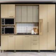 Cozinha Completa Áurea 4 Peças com Vidro Freijó/Champanhe