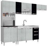 Cozinha Completa Carol 4 Peças Branco/Gelo/Negro Incorplac