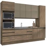 Cozinha Completa Maxxi 6 Peças com Vidro Nogal Kappesberg