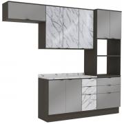 Cozinha Completa Nox 4 Peças Ônix/Steel/Vidro Pedra