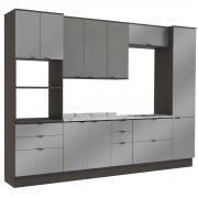 Cozinha Completa Nox 6 Pçs Ônix/Steel/Vidro Inox Kappesberg