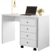 Escrivaninha e Gaveteiro Presence Office Branco Demóbile