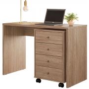 Escrivaninha e Gaveteiro Presence Office Nogal Demóbile