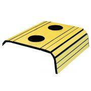 Esteira para Sofá Com Porta Copo Amarelo Brilho 100% MDF