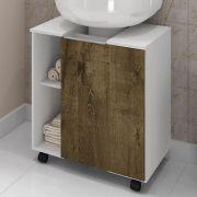 Gabinete para Banheiro Pequin Branco Rustico Bechara Móveis