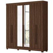 Guarda-Roupa com Espelho Casal 6 Portas Cedro Belém Albatroz