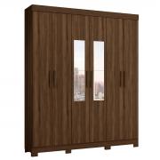 Guarda-Roupa com Espelho Casal Amarok 6 Portas Cedro