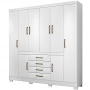 Guarda-Roupa New Realce 8 Portas Branco Demobile Móveis