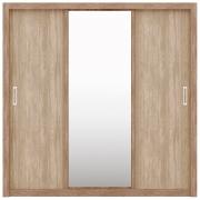 Guarda-Roupa Residence 3 Portas de Correr Nogal/Vanilla