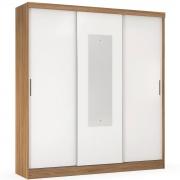Guarda-Roupa Ritmo 3 Portas com Espelho Amendola/Branco Flex