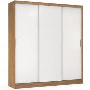 Guarda-Roupa Ritmo 3 Portas de Correr Amendola/Branco Flex