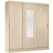 Guarda-Roupa Ritmo 3 Portas de Correr com Espelho Avena Touch