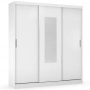 Guarda-Roupa Ritmo 3 Portas de Correr com Espelho Branco