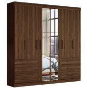Guarda-Roupa Versa 6 Portas c/ Espelho Cedro Móveis Albatroz