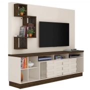 Home Theater Heitor Casa Chick Off White/Savana Tv até 65