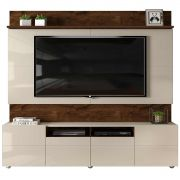 Home Theater Quadrus Rústico Malbec/Off White Tv até 70'