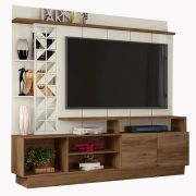 Home Theater Vivaz Canela/Off White Frade Tv até 65'