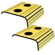 Kit 2 Esteira para Sofá Com Porta Copo Amarelo Off 100% MDF