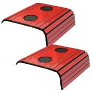 Kit 2 Esteira para Sofá Com Porta Copo Vermelho Off 100% MDF