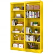 Kit 2 Livreiros Linus 5 Prateleiras Amarelo Casa Chick