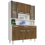 Kit de Cozinha Cancun 8 Portas Branco/Malbec Incorplac