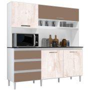 Kit de Cozinha Florença Branco/Aspen/Canela Incorplac