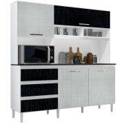 Kit de Cozinha Florença Branco/Gelo/Negro Incorplac