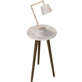 Mesa de Apoio Brilhante Carrara Moveis Bechara