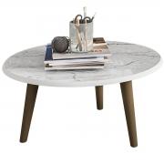 Mesa de Centro Brilhante Carrara Móveis Bechara