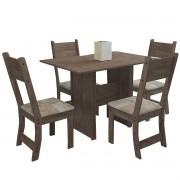 Mesa de Jantar 4 Cadeiras Retangular Talita Indekes