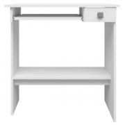 Mesa para Computador 1 Gaveta Branco Ajl Móveis
