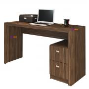 Mesa para Escritório ME4130 2 Gavetas Nogal Casa Chick