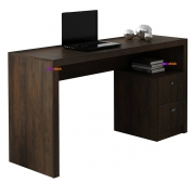 Mesa para Escritório ME4130 2 Gavetas Rústico Casa Chick