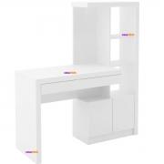 Mesa para Escritório ME4143 2 Portas Branco Casa Chick
