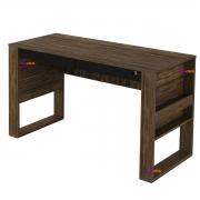 Mesa para Escritório ME4144 2 Gavetas Nogal/Preto Casa Chick