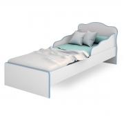 Mini-Cama Juvenil c/ Proteção Lateral Doce Sonho Branco/Azul