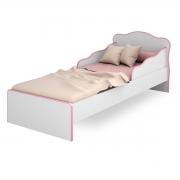 Mini-Cama Juvenil c/ Proteção Lateral Doce Sonho Branco/Rosa