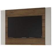 Painel Extensível Furnas Off White/Nogueira Linea Tv Até 42