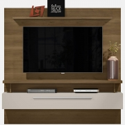 Painel Home New Caju 1.7 Avelã/Off White para TV 65'