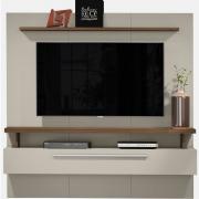 Painel Home New Caju 1.7 Off White/Nogueira para TV 65'