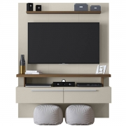 Painel Home New Caju Nogueira/Off White Linea Brasil Tv 60