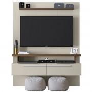 Painel Home New Caju Nogueira/Off White Linea Brasil Tv Até 60