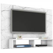Painel Navi Carrara/Branco Móveis Bechara para Tv Até 47