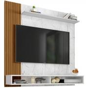 Painel Oslo Carrara/Branco/Ripado Bechara para Tv Até 50