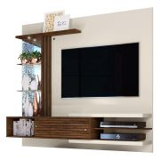 "Painel P/ TV 55"" Suspenso Supreme Frizz Savana/Off White"