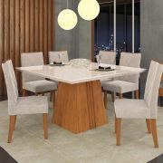 Sala Jantar Itália 6 Cadeiras Golden Carvalho/Off White